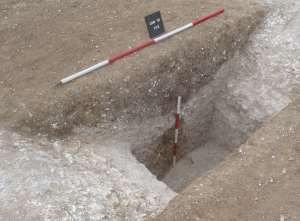 North facing profile of the ring ditch