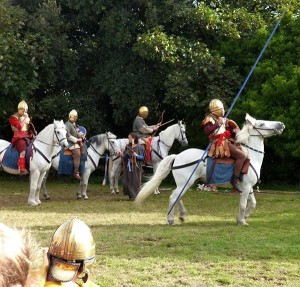 Commitatus cavalry display