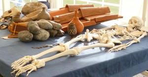 Display of Roman artefacts