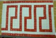 Keystone mosaic pattern