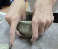 Making a thumb pot