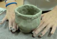 Finished prehistoric style thumb pot