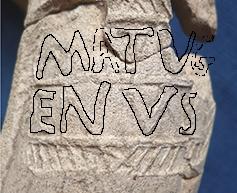 Manufactururs stamp on Roman Mortarium