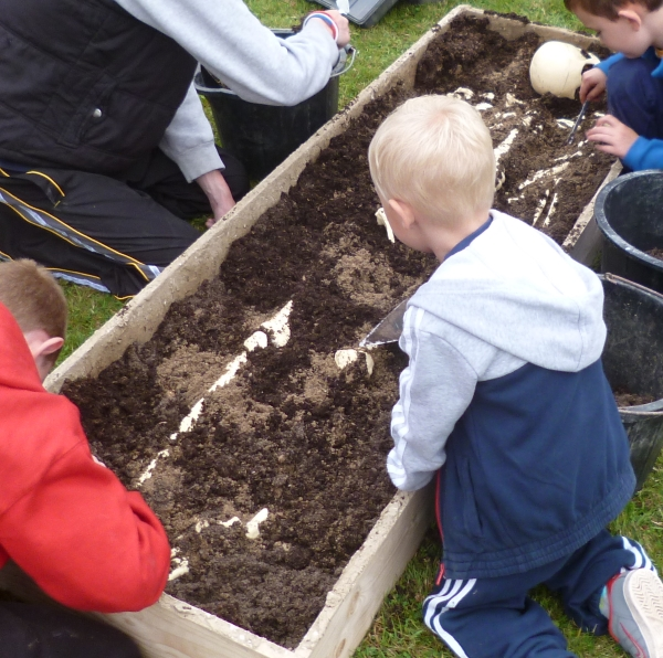 Excavating in the Trust for Thanet Archaeology new skeleton activity