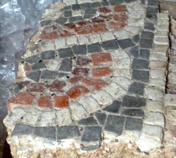 Fragment of Romano-British mosaic