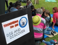 Our Logo in action on the activity signs