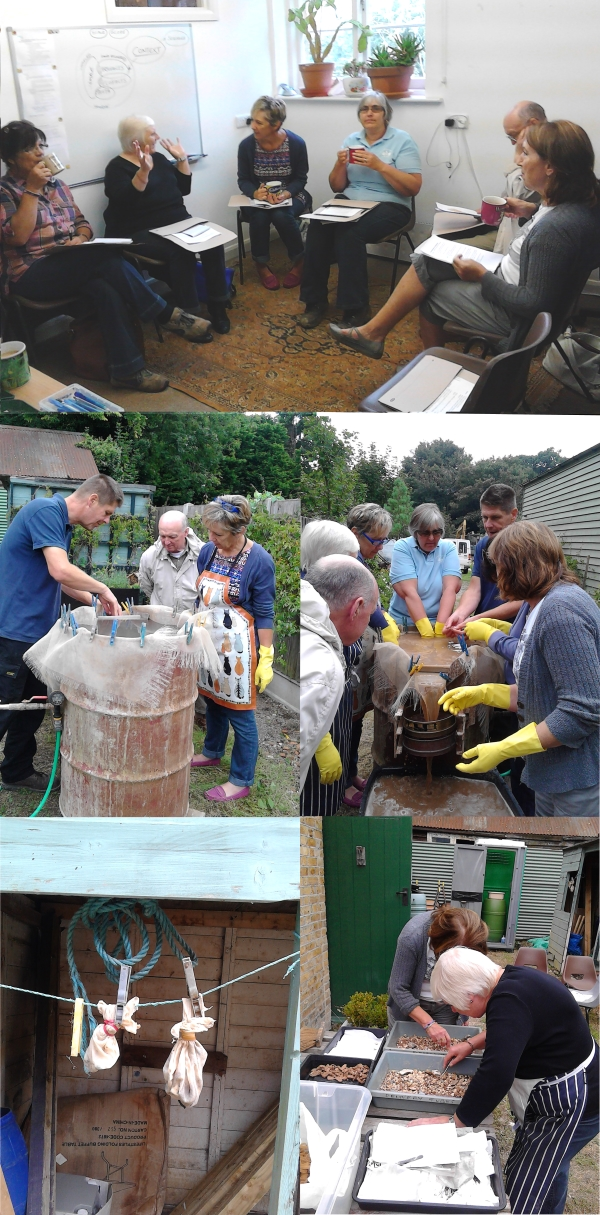 A medley of images from our environmental archaeology workshop with IOTAS