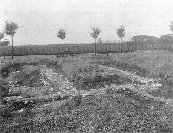 Tivoli Villa excavation facing across Tivoli Park toward Hartsdown