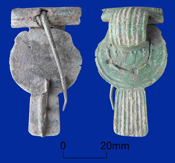 Thistle or rosette brooch of 1st century date from Minster in Thanet
