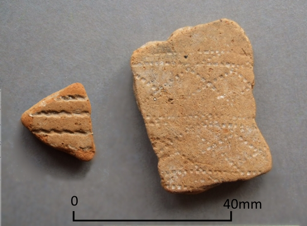 Two Beaker sherds from Lord of the Manor, Ramsgate.