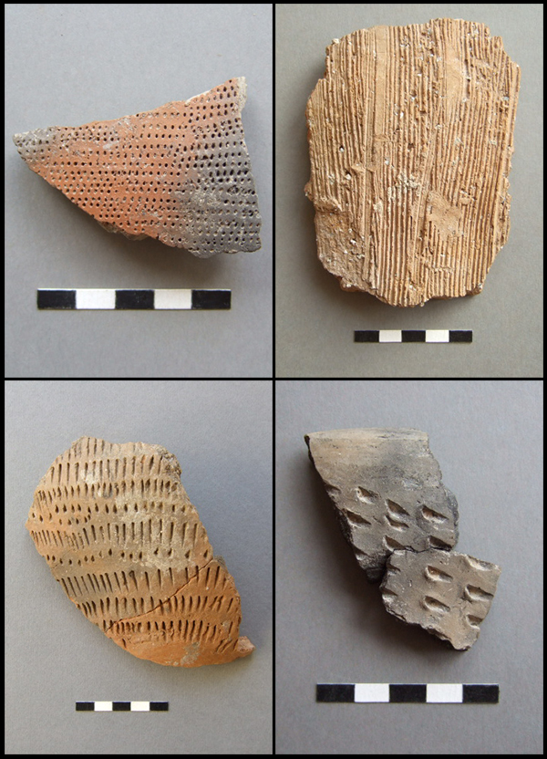 Comb and impress decorated Middle Iron Age sherds from Thanet